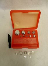 17pcs Scale Calibration Weight Set includes 100-50-20-10-5-2-1g,500-200-100mg