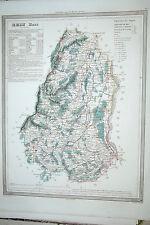 68 Haut Rhin carte gravure Dufour et Duvotenay 1860 (75-7)