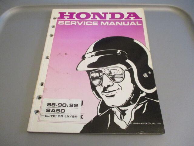 Honda Oem Factory Service Shop Manual 1989
