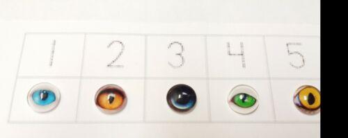 4Pcs ANIMAL EYES GLASS CABOCHON 10mm Flatback Charms /& Cabachons GOOGLY EYES UK