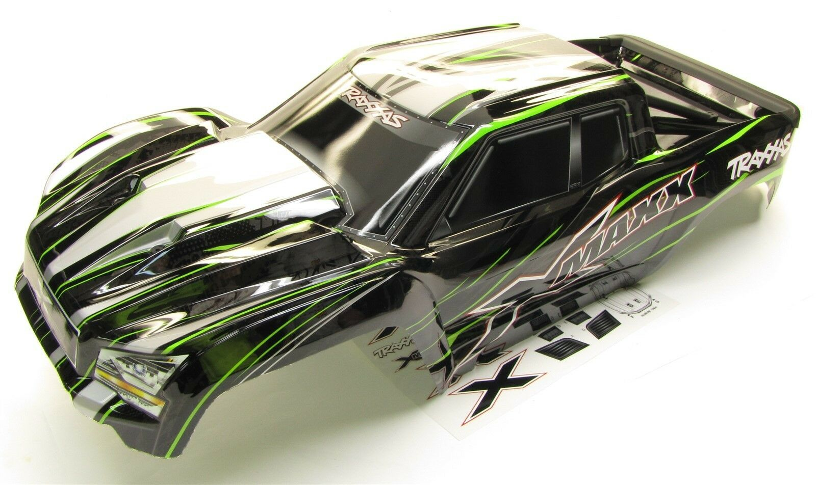 X-MAXX corpo cover Shell (verde Factory Painted ProGraphics nuovo Traxxas 77086-4