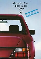 Mercedes 200D 250D 300D 124 Prospekt 8/85 brochure 1985 Auto PKWs Deutschland