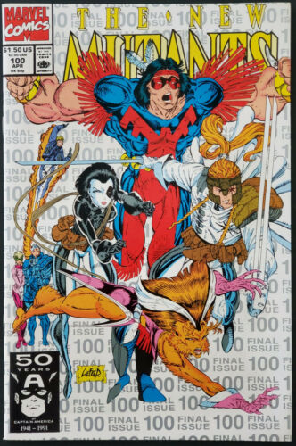 The New Mutants #100 1st X-Force App 3rd Printing White Cover NM Gorgeous Copy