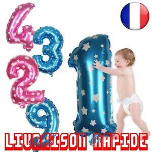 Grand-Ballons-32-pouce-Rose-Bleu-Coeur-Fete-D-039-anniversaire-Air-Geant-Nombre-Mode