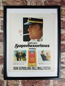 Original-Vintage-1960-039-s-Pall-Mall-Cigarettes-Smoking-Magazine-Advert