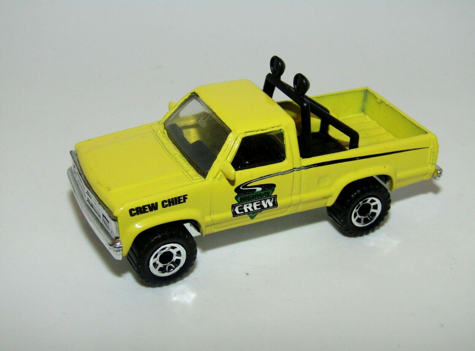 MATCHBOX SUPERFAST N. 17 Dodge Dakota amarillo limone pre-produzione in Cina Nuovo di zecca