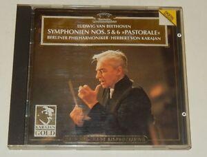 CD-Ludwig-Van-BEETHOVEN-SYMPHONIEN-Nos-5-amp-6-Herbert-Von-KARAJAN-1984
