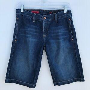 AG-Adriano-Goldschmied-The-Dione-Bermuda-Denim-Jean-Shorts-Womens-Size-27