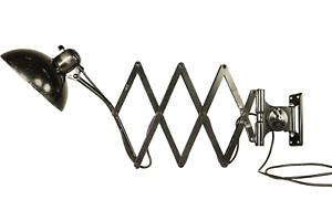 Kaiser-Idell-Wand-Scheren-Leuchte-XL-6614-Lampe-Scissor-Lamp-Bauhaus-Chr-Dell