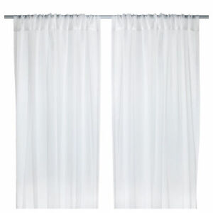 IKEA-style-moderne-TERESIA-Sheer-rideaux-blanc-1-Paire-250-x145cm-100-polyester