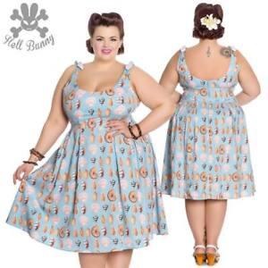 Hell Bunny Maya Bay 50 s Rockabilly Pinup Swing Retro Vintage Dress ... cdbe5140c