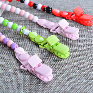 Baby-Pacifier-Clip-Chain-Dummy-Pacifiers-Leash-Strap-Beads-Teether-Toy-AU