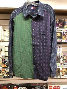 283fd1b4 Tommy Hilfiger 3 Color Blue Green Purple Button Up Shirt men's XL ...