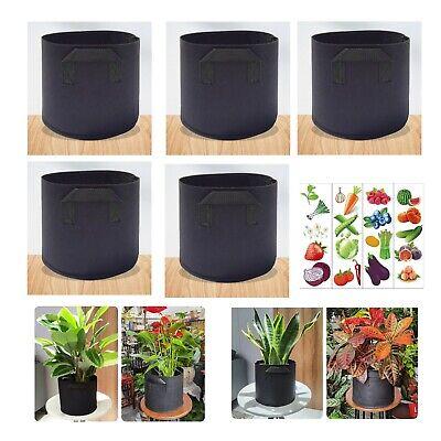 1pcs Grow Bags Garden Heavy Duty Non-Woven Aeration Plant Fabric Pot Container