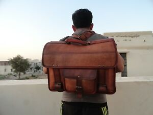 Image is loading Leather-Backpack-Briefcase-2-in-1-Satchel-Messenger- 3e4115b412cdc