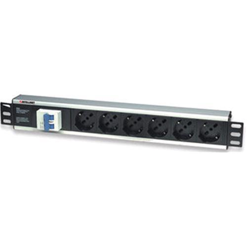 Techly Professional Multipresa per rack 19'' 6 posti con magnetotermico