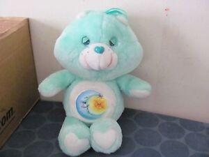 VINTAGE Bedtime Bear Care Bears plush 1980s Kenner