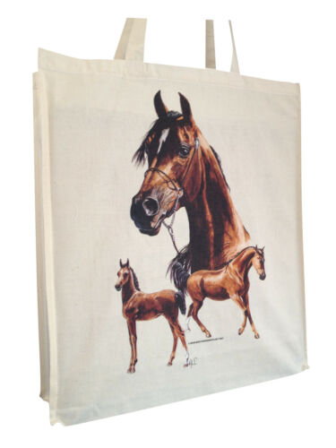 Arabian Horse Group Cotton Shopping Bag Short or Long Handles Perfect Gift