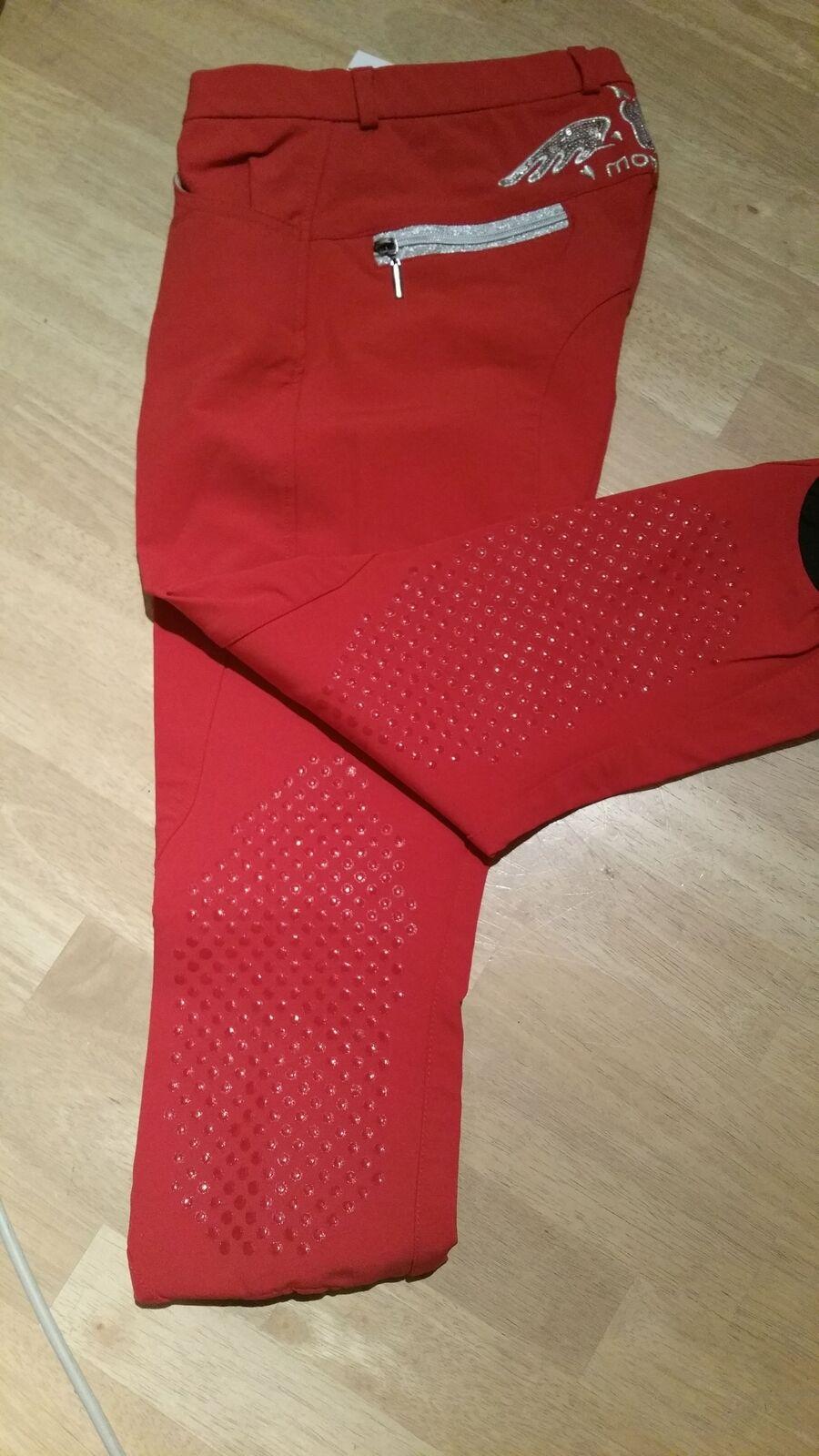 Montar montar ribete de rodilla, rojo con fibras de bambú