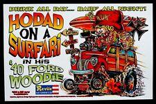 HORTON HEAT Nashville Pussy CONCERT Poster SIGNED JOHNNY ACE KALI Rat Fink Roth