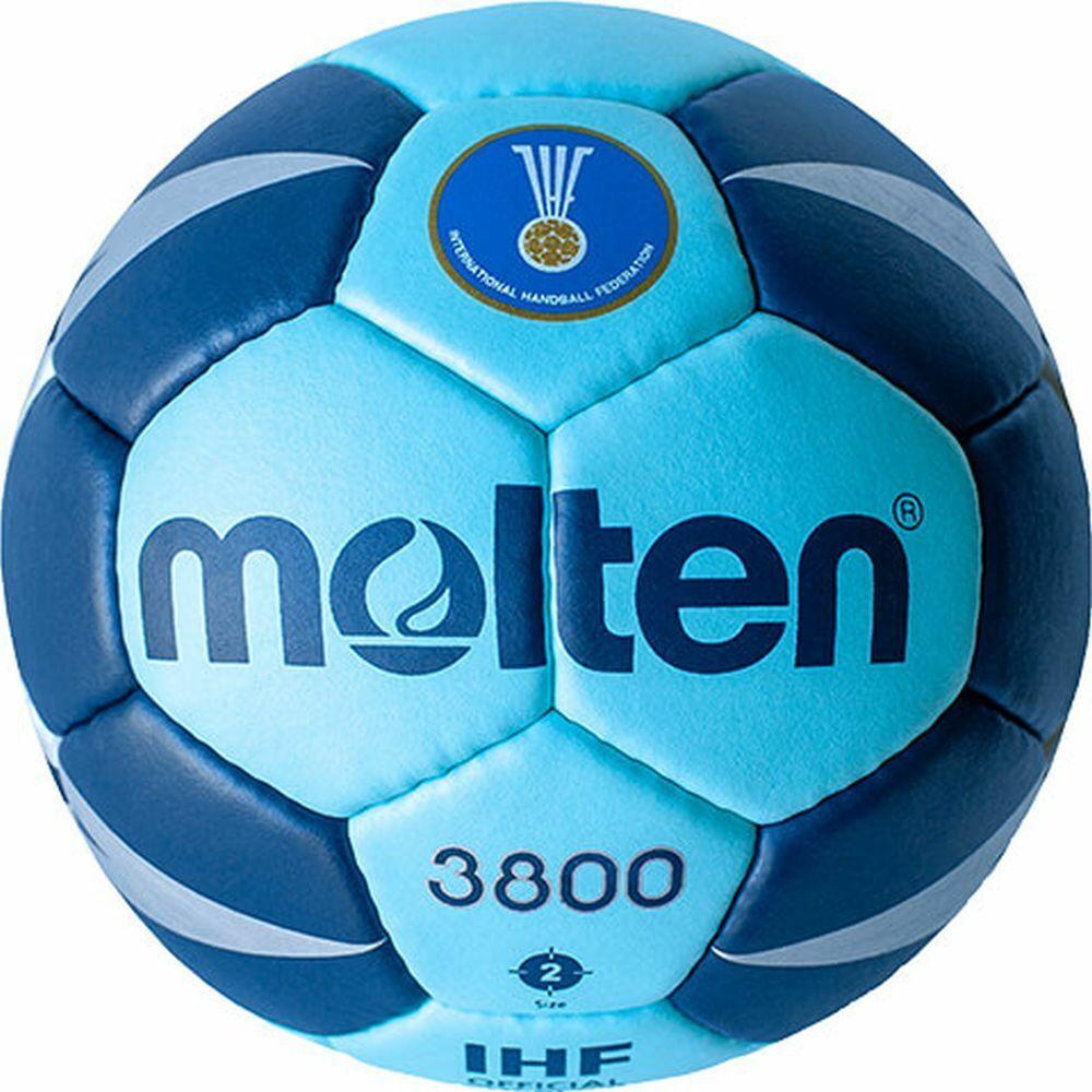Molten Handball H2X3800-CN IHF Spielball Wettspielball cyan cyan cyan blau Gr 2 18d5c6