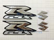 GSX-R Raised 3D Chrome Sticker Set Streak Decal GSXR600 GSXR750 GSXR1000 Bling