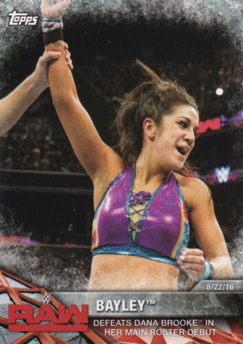2017 TOPPS WWE Women/'s Division Cox MOMMENTS # wwe-4 Bayley