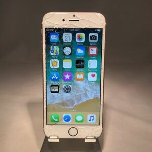 Details About Apple Iphone 6s 64gb Rose Gold Unlocked Cracked Screen Fully Functional