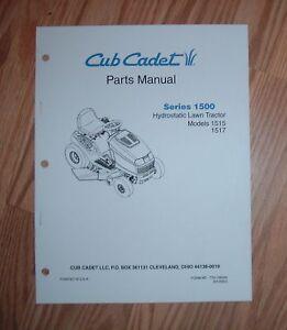 cub cadet 1515 \u0026 1517 tractor \u0026 engine illustrated parts list manualimage is loading cub cadet 1515 amp 1517 tractor amp engine