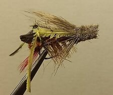 1 Dozen - Dave's Hopper Brown  -  Dry Fly - Trout
