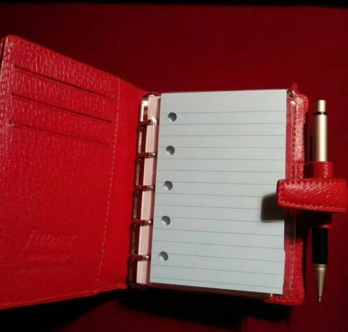 50 Blue Ruled Refills for Filofax Mini Organizers with 5 holes
