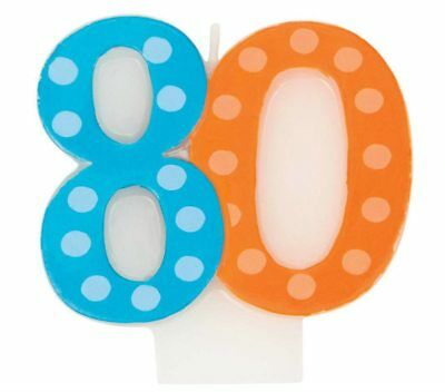 Candle Milestone Number 80 80th Numerical Birthday Cake Party Decoration