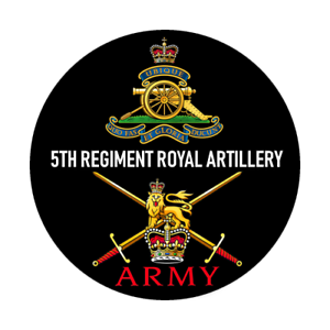 BRITISH ARMY 5TH REGIMENT ROYAL ARTILLERY BADGE