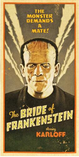 "The Bride of Frankenstein Movie Poster Replica 9.5 x 19/"" Photo Print"