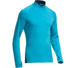 ab0cd642a3 ICEBREAKER Men's Merino Wool Men's 200 SPRINT Long Sleeve HALF ZIP ...