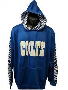 4726c83e New Indianapolis Colts Mens Sizes L-XL-2XL Blue & White Zubaz Hoodie ...