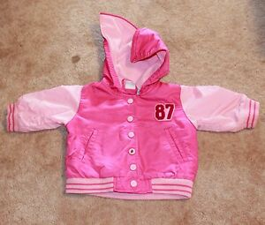 Guc Agreeable To Taste pink W/ Fleece Lining Beautiful Cherokee Girls' 9 Month Snap-up Hooded Jacket