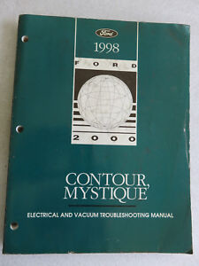 ford contour wiring diagram 1998 ford contour mystique electrical wiring diagrams service  1998 ford contour mystique electrical