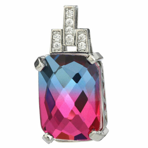 Colourful Crystal Glass Charms Pendants DIY Jewelry Findings Accessories 28x14mm