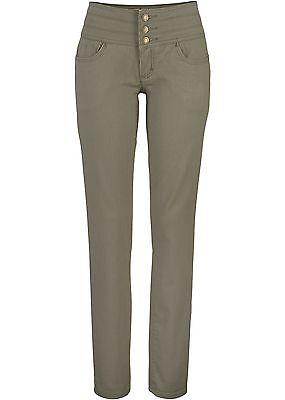 Moderne Stretch Jeans mit Effekt in Oliv - Gr. 38 - Q1882 - 904658