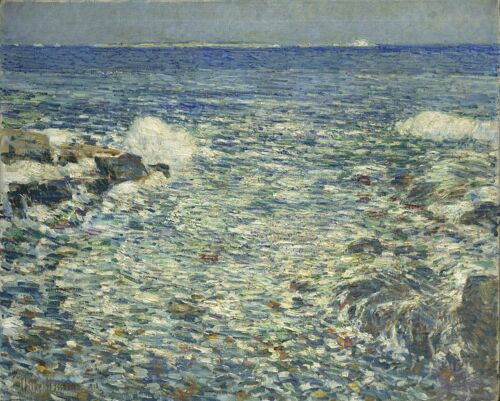 Isles of Shoals Surf Childe Hassam Giclee Canvas Print