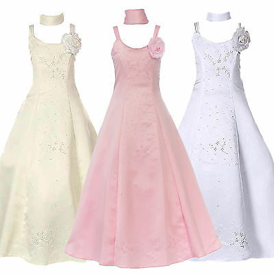 Girl Teen Princess Flower Pageant Ball Prom Party Wedding Holiday Formal Dress