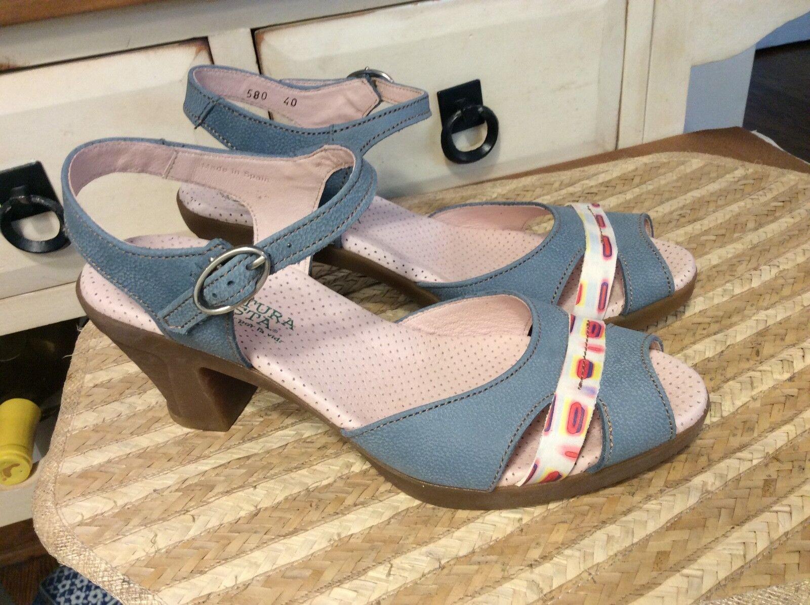 El naturalista mujer 580 Tobillo con Tiras Sandalia Zapato Zapato Zapato Puntera Abierta Azul Talla 40 - 9-9... 5  excelentes precios