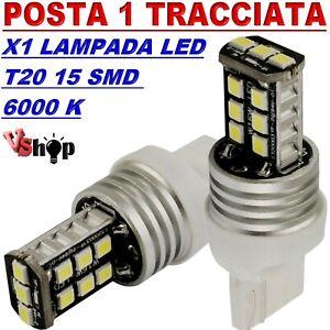 LAMPADA-LED-T20-7040-15-SMD-LUCI-DIURNE-DRL-POSIZIONE-CANBUS-NO-ERRORE-BIANCO