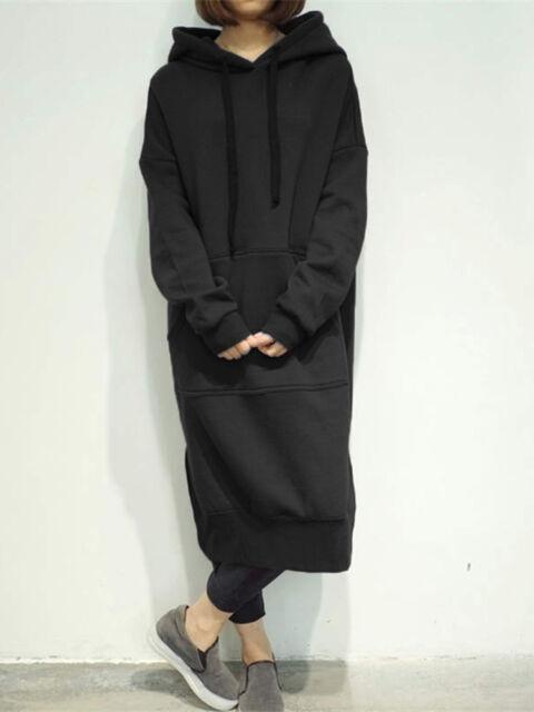 4114a784754 Zanzea Women s Long Sleeve Loose Casual Plus Sweatshirt Hoodies Long ...