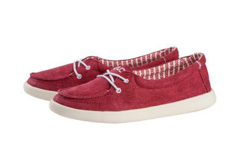 Dude Shoes FERRARA Rosso Tela Slip On