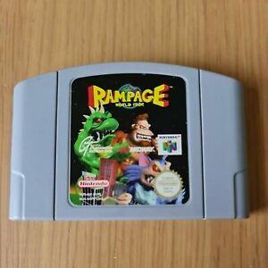 Rampage World Tour NINTENDO 64 N64 PAL sólo cartucho de juego Gratis P&P