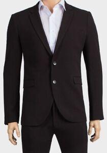 Homme-Costumes-2-pieces-Coupe-Skinny-blazer-veste-pantalon-Mariage-Formel-Travail-Enterrement