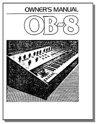 Ob 8 Ob8-30 Days Only Sale Oberheim Ob-8 Owner's Manual Sale! Quell Summer Thirst