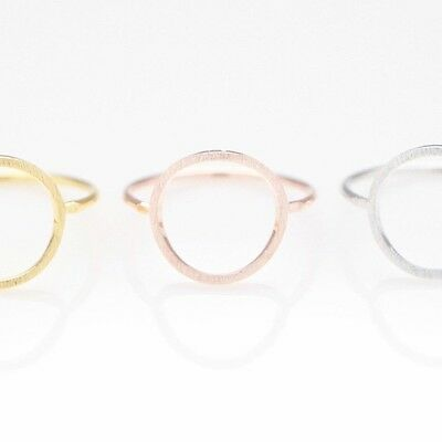 Open Circle Ring R021 / gold silver rose gold pink modern cute